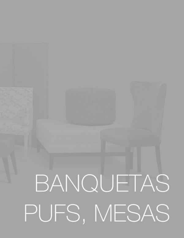 Banquetas, pufs, mesas - Tapizados Doñana
