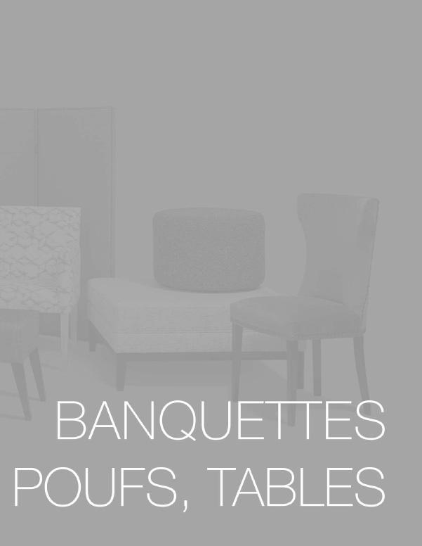 Banquettes, poufs, tables - Tapizados Doñana