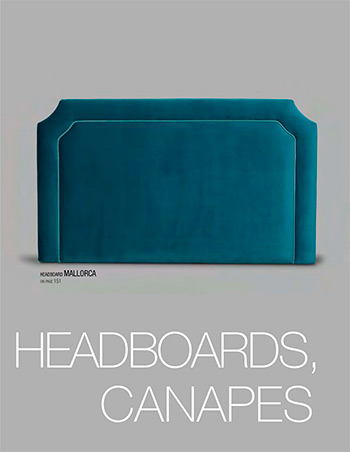 Bed headboards and canapes catalogue - Tapizados Doñana