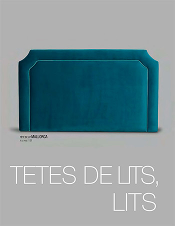 Catalogue de têtes de lit, lits - Tapizados Doñana